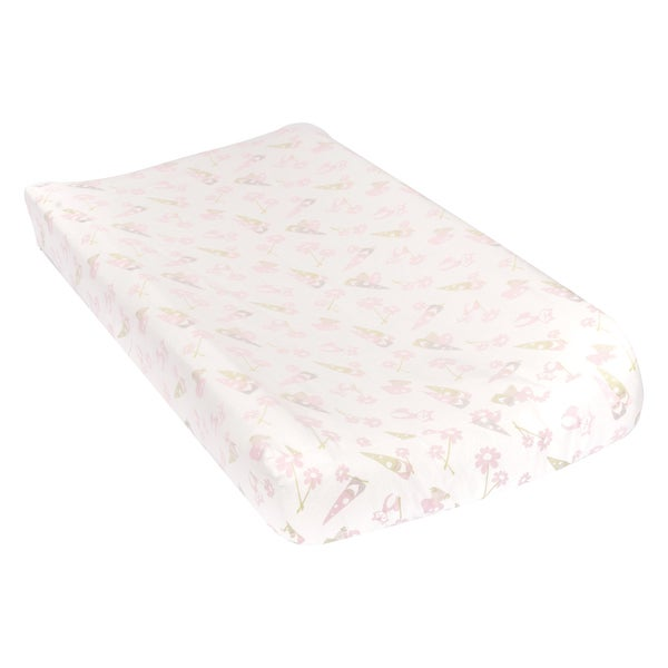 Trend Lab Garden Gnomes Deluxe Flannel Changing Pad Cover