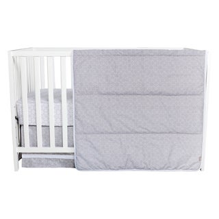 Trend Lab Grey and White Circles 3-piece Crib Bedding Set