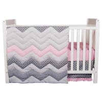 Trend Lab Cotton Candy Chevron 3-piece Crib Bedding Set