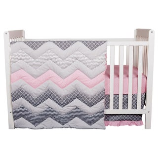 trend lab cotton candy chevron 3piece crib bedding set