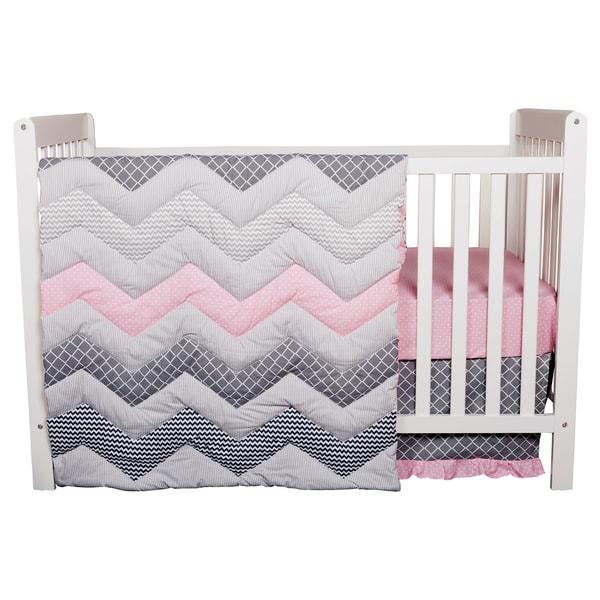 Shop Trend Lab Cotton Candy Chevron 3 Piece Crib Bedding Set Free