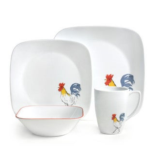 Corelle Square Country Dawn 16-Piece Dinnerware Set (Service for 4)