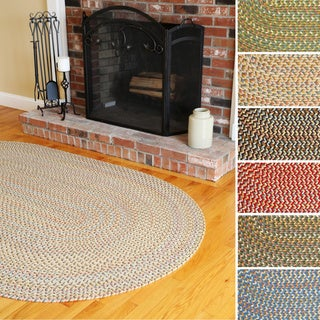 Cozy Cove Indoor/Outdoor Oval Braided Rug by Rhody Rug (5' x 8')
