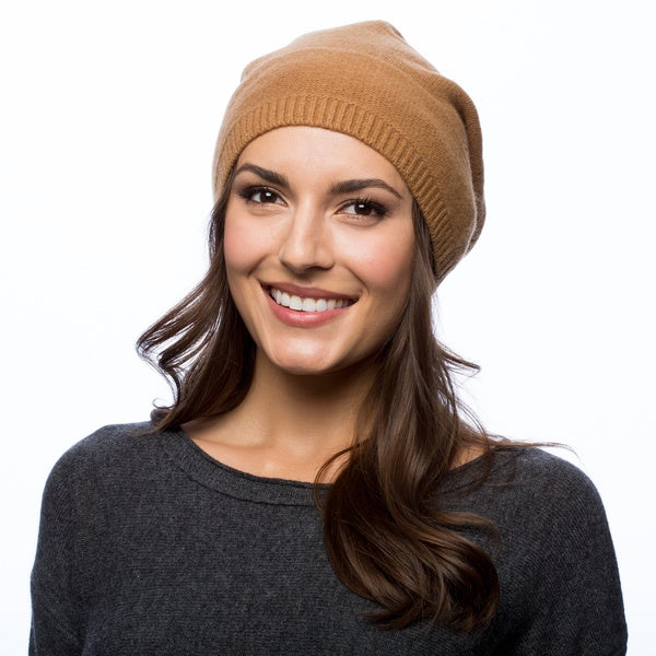 1f29c476046 Shop Portolano Cashmere Slouchy Hat - Free Shipping On Orders Over ...