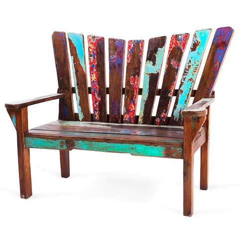 Dock Holiday Reclaimed Wood Bench