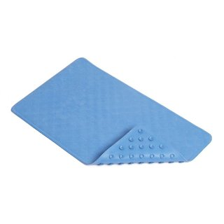 Con-Tact Brand Rubber Bath Mat, Blue Shells  (Pack of 4)