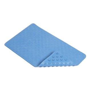 Con-Tact Brand Blue Shells Rubber Bath Mat (Pack of 4)
