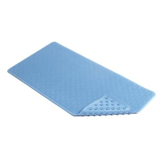 Con-Tact Brand Blue Wave Rubber Bath Mat, 36'' x 18'' (Pack of 4)