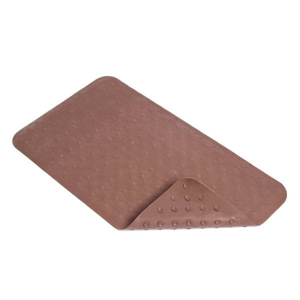 Con-Tact Brand Chocolate Quilt Rubber Bath Mat, 27.25'' x 15.5'' (Pack of 4)