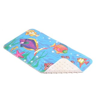 Con-Tact Brand Sea Fishes Rubber Bath Mat, 30'' x 16'' (Pack of 4)