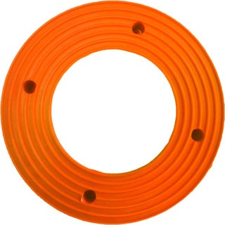 Plant Stand PlantJacks Bright's Collection Fluorescent Orange Pottery Rings (Pack of 4)