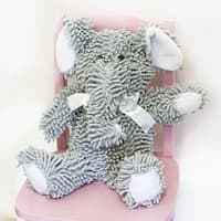 Pam Grace Creations Nubby Grey Stuffed Elephant Toy