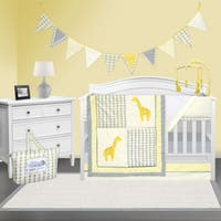 Pam Grace Creations Argyle Giraffe Crib Bedding Set
