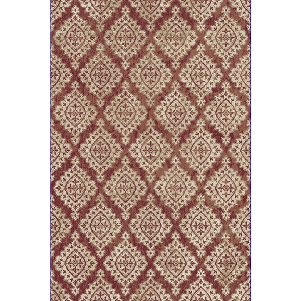 Cella Fl Diamonds Terracotta Area Rug 3 X27