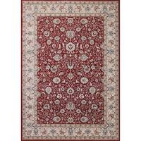 Cappella Traditional Floral Red Area Rug - 3'11 x 5'3