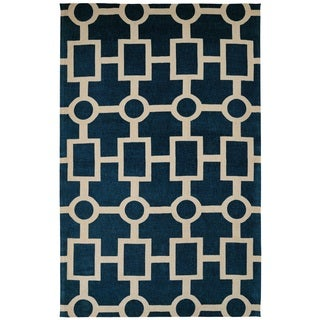 Juniper Geometric Navy Area Rug (3' x 5')