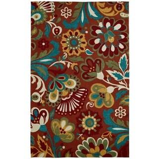 Juniper Floral Red/ Multi Area Rug - 3' x 5'