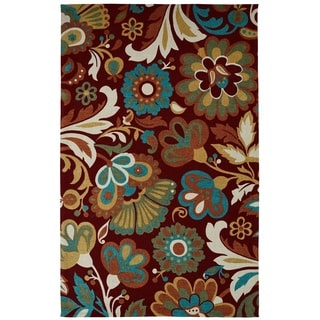 Juniper Floral Red/ Multi Area Rug (5' x 8')