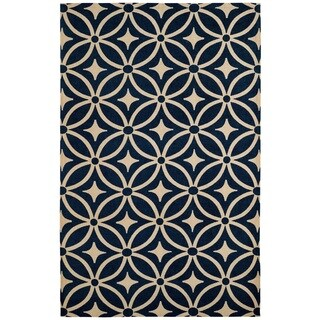 Juniper Diamonds Navy Area Rug (5' x 8')
