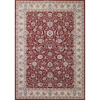 Cappella Traditional Floral Red Area Rugs - 7'10 x 10'10