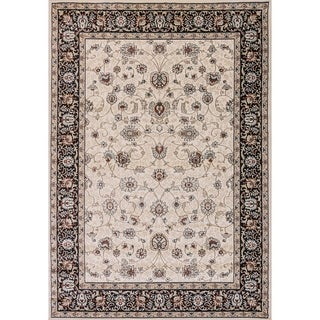 Cappella Traditional Floral Ivory Area Rug (7'10 x 10'10)