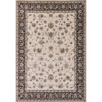 Cappella Traditional Floral Ivory Area Rug (7'10 x 10'10) - 7'10 x 10'10