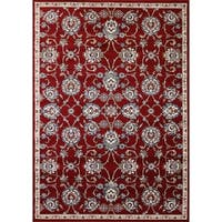 Cappella Traditional Medallion Area Rug Red - 9'2 x 12'10