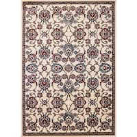 Cappella Floral Traditional Ivory Area Rug (9'2 x 12'10)