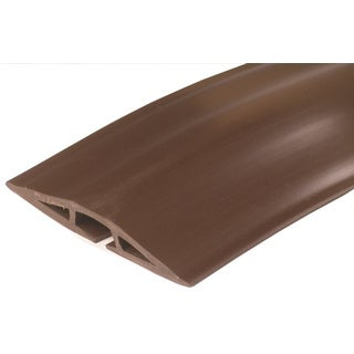 C2G 5ft Wiremold Corduct Overfloor Cord Protector - Brown