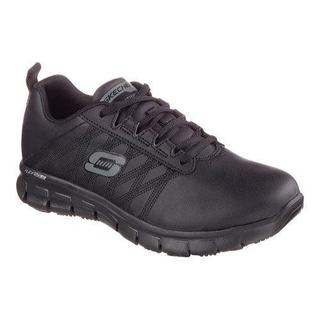 Women's Skechers Work Relaxed Fit Sure Track Erath Slip Resistant Black