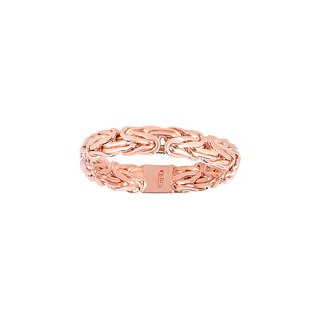 14k Rose Gold Byzantine Style Band Ring