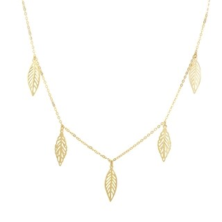 14k Yellow Gold 18-inch Charm Necklace