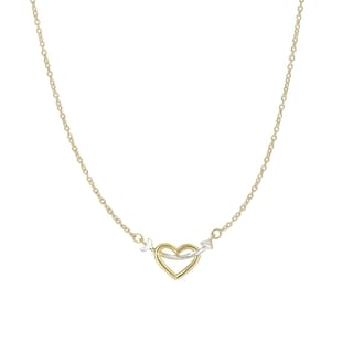 14k Yellow and White Gold 17-inch Charm Necklace