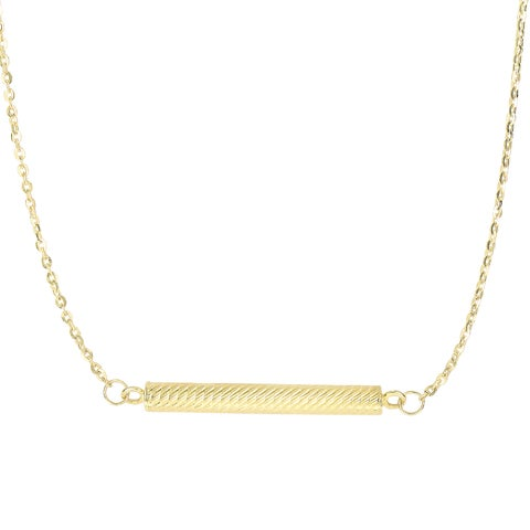 14k Yellow Gold 17-inch Bar Necklace