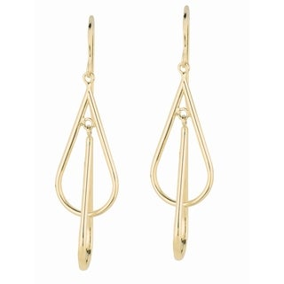 14k Yellow Gold Tear Drop and Dangling Earrings