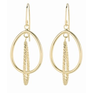 14k Yellow Gold Hoop and Dangling Earrings
