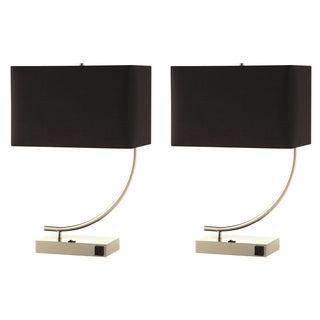 Nava Contemporary Stylish Table Lamp with Black Shade (Set of 2)