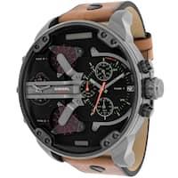 Diesel Men's DZ7332 Mr. Daddy 2.0 Round Brown Leather Strap Watch