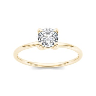De Couer 14k Yellow Gold 3/4ct TDW Diamond Classic Engagement Ring