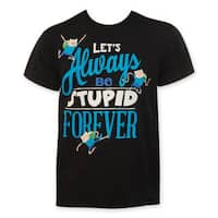 Men's Adventure Time 'Let's Always Be Stupid Forever' T-Shirt