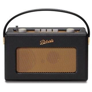 Robert's Radio, 1950's Style Retro Radio in a Black Leather Cloth Finish
