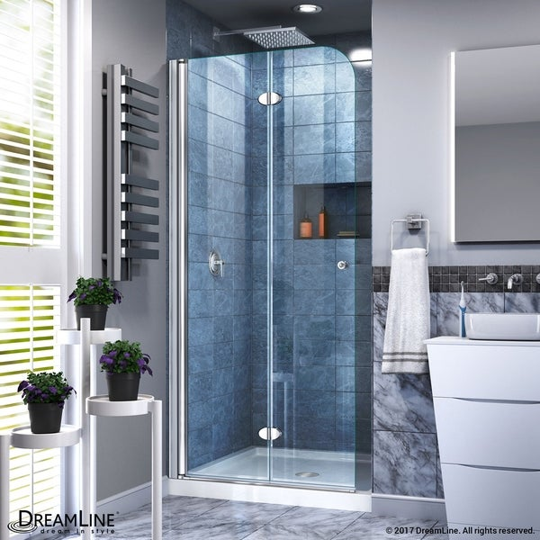 Dreamline Aqua Fold Shower Door 33 5 In W X 72 H Clear Gl