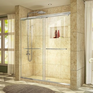 "DreamLine Charisma 56-60 in. W x 76 in. H Frameless Bypass Sliding Shower Door - 56"" - 60"" W"