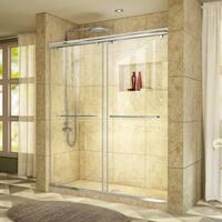 DreamLine Charisma Sliding Shower Door 56 - 60 in. W x 76 in. H Clear Glass Shower Door