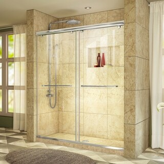 DreamLine Charisma Sliding Shower Door 56 - 60 in. W x 76 in. H Clear Glass Shower Door