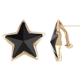 Brass Jumbo Star Earrings