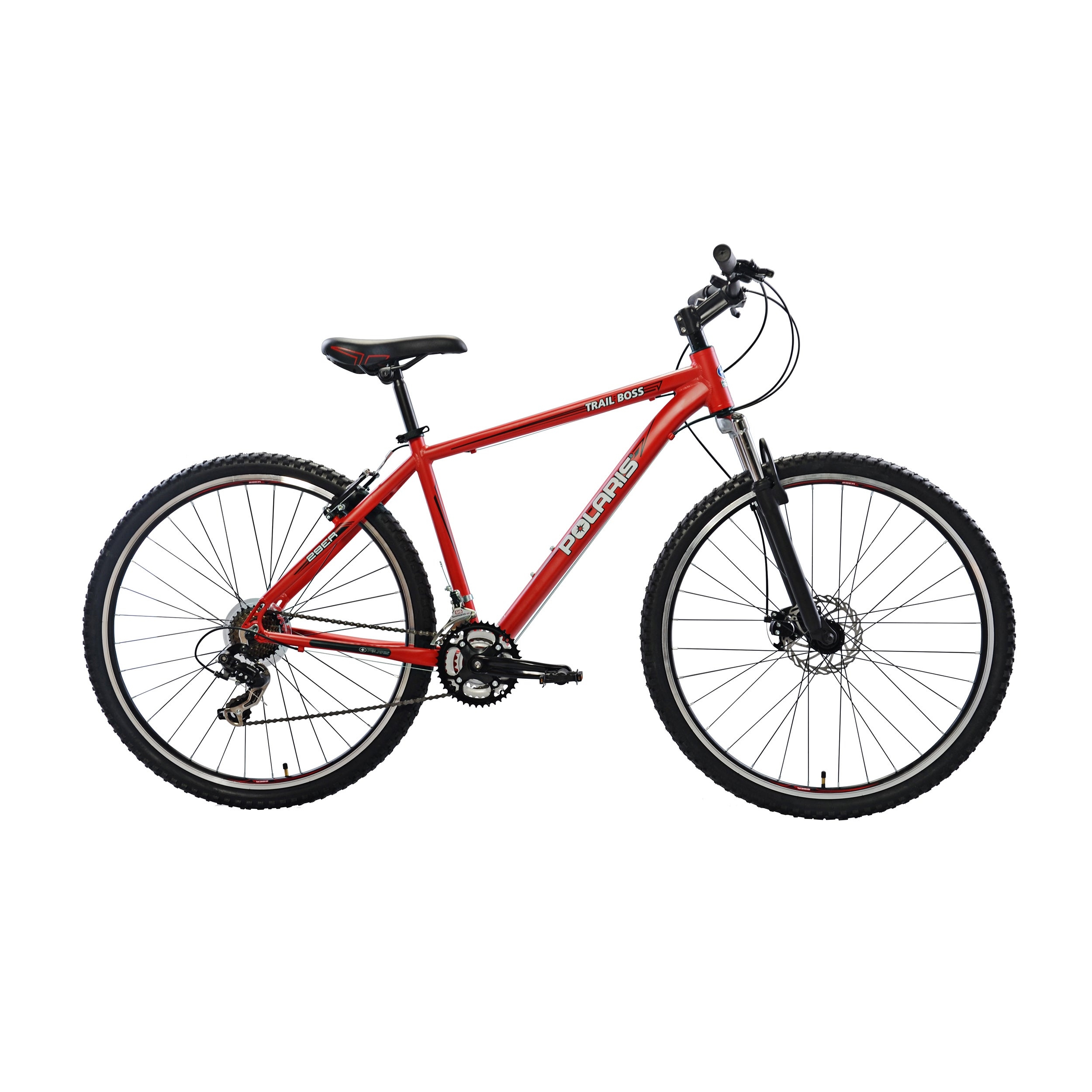 Polaris Trail Boss II Hardtail MTB Bicycle (Red), Size 29...