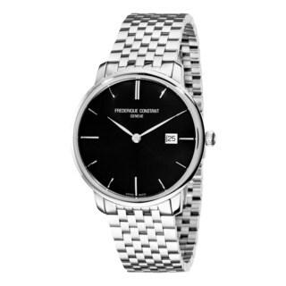 Frederique Constant Men's FC-306G4S6B2 'Index' Black Stainless Steel Bracelet Automatic Watch