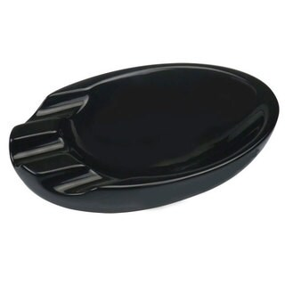 Visol Bradford Black Ceramic Cigar Ashtray For Patio Use