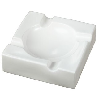 Visol Donovan White Ceramic Cigar Ashtray For Patio Use
